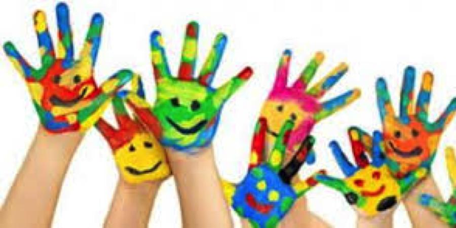 Geverfde handen
